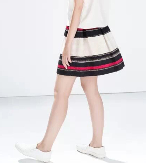 fall outfits striped skirt skirt