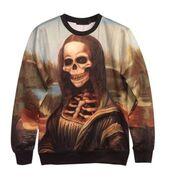 top,3d graphic,3d sweatshirt,unisex sweatshirt,skeleton sweatshirt,skull sweatshirt,mona lisa sweatshirt,www.ustrendy.com