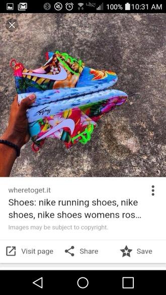 shoes roshe runs low top sneakers multicolor nike roshes run tropical