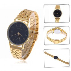 Stylish mingbo b009 black round dial quartz hours analog wrist watch for male with roman numerals indicate time