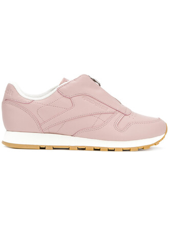 zip women classic sneakers leather purple pink shoes