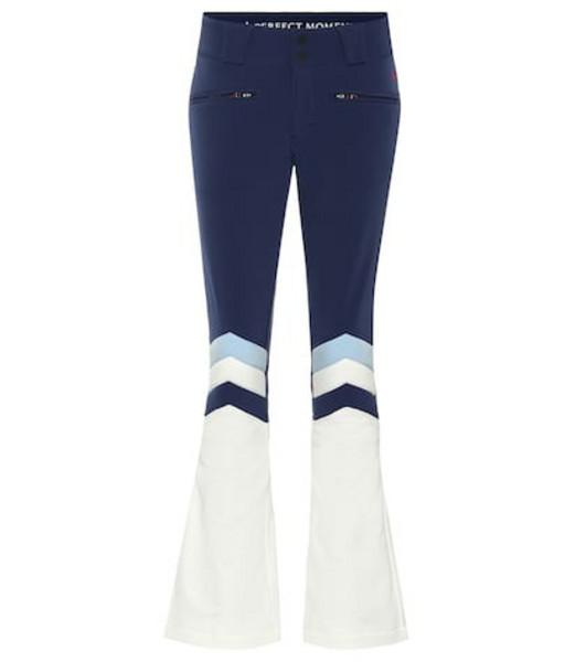 Perfect Moment Aurora II flared ski pants in blue