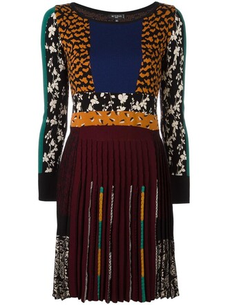 dress pleated dress pleated women cotton print silk wool