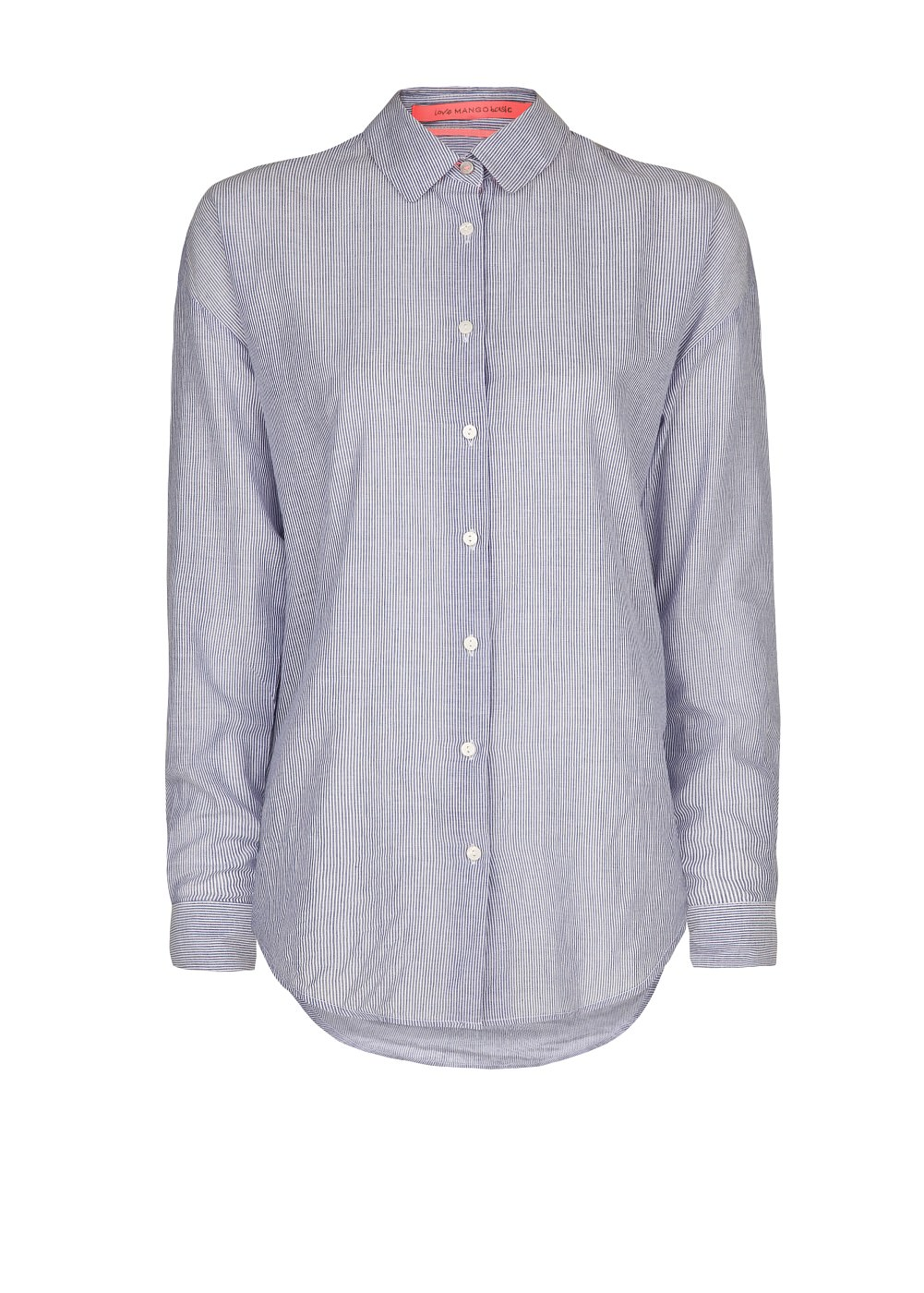MANGO - CLOTHING - Tops - Striped cotton shirt