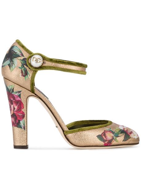 Dolce & Gabbana women pumps leather silk purple pink shoes