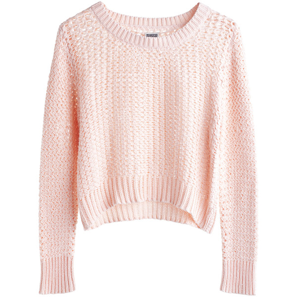 MTWTFSS Weekday Cloud Knit Sweater Pink - Polyvore