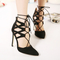 Star style socialite women sexy high heel summer shoes sandals woman cutout lace up pointed toe party shoes pumps 200 1-in women's pumps from shoes on aliexpress.com | alibaba group