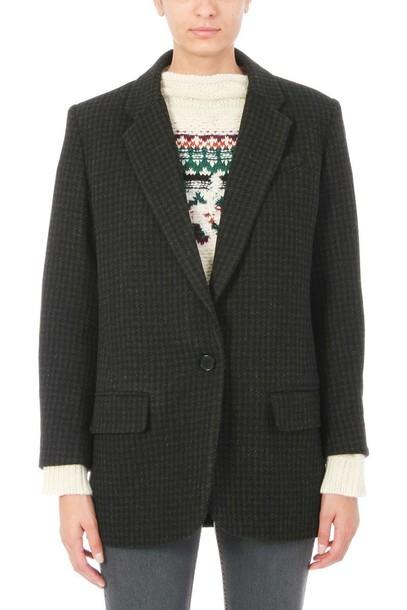 Isabel Marant etoile jacket wool green