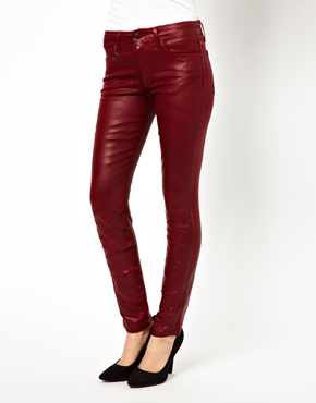 Joe's Jeans   Joe's Jeans Coloured Leather Look Skinny Jeans at ASOS