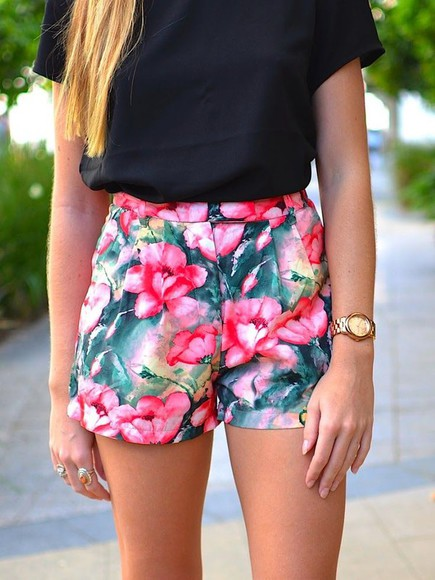 floral shorts High waisted shorts