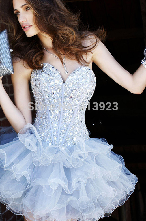 Aliexpress.com : Buy A strapless Deep Sweetheart Neckline Crystal Organza Hot Sale Prom Dress Homecoming Dresses For Cheap 2014 from Reliable dresses evening dresses suppliers on Chaozhou City Xin Aojia dress Factory