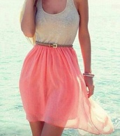 dress,skirt,cute,pink grey belt short,tank top,brown belt,pink,pink dress,beach dress,short at the front,short at front long at back,pretty,cream dress,white,lace top,skater,summer,teenagers,cute dress,nice,lovely,pink skirt,koral,koral skirt,high low,high low skirt,high low dress,beach,summer dress,chiffon skirt,coral dress,orange dress,white top,white dress,white pink dress,coral,coral skirt,hi low dresses,white tank top,belt
