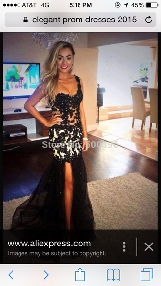 dress prom dress black and white mermaid one shoulder