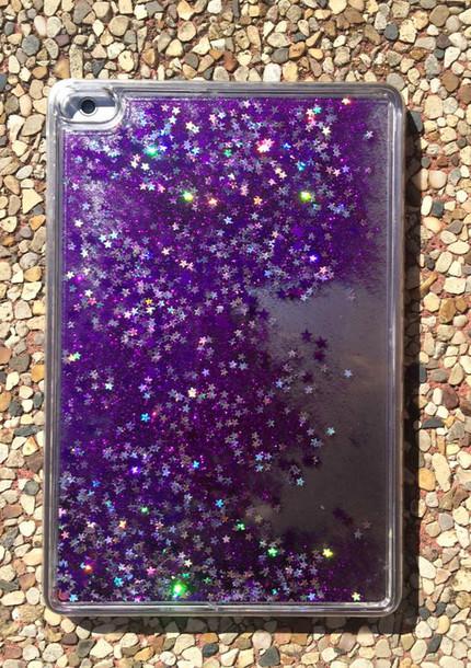 home accessory liquid glitter moving glitter ipad mini cases