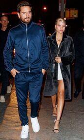 coat,mini dress,sandals,sofia richie,streetstyle,model off-duty