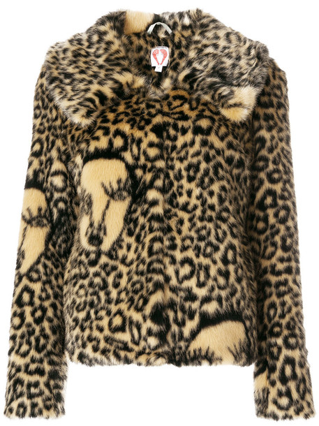 Shrimps jacket faux fur jacket fur jacket fur faux fur women brown