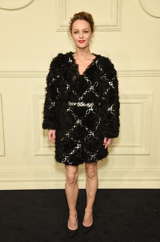 dress fur vanessa paradis pumps fashion week 2015