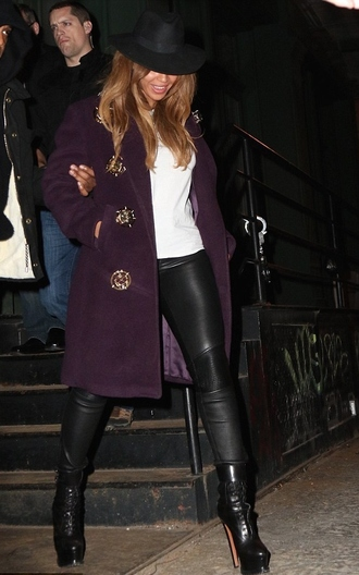coat beyoncé boots fall outfits