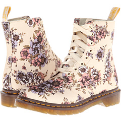 Dr. Martens Beckett 8-Eye Boot Beige Wild Rose T Canvas - Zappos.com Free Shipping BOTH Ways