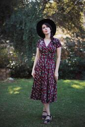 southerncaliforniabelle,blogger,dress,shoes,top,hat,make-up