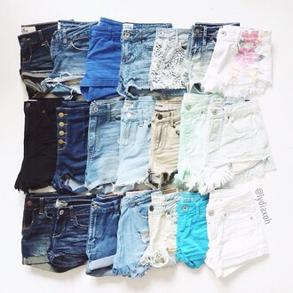 shorts jeans denim denim shorts blue purple dark wash acid wash colorful