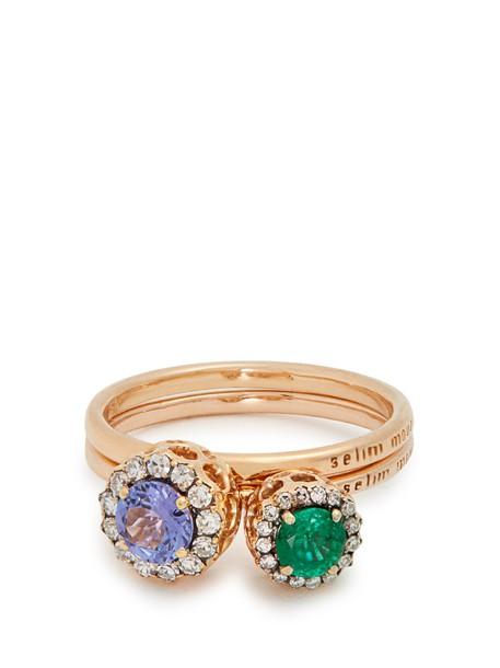 SELIM MOUZANNAR gold pink purple jewels