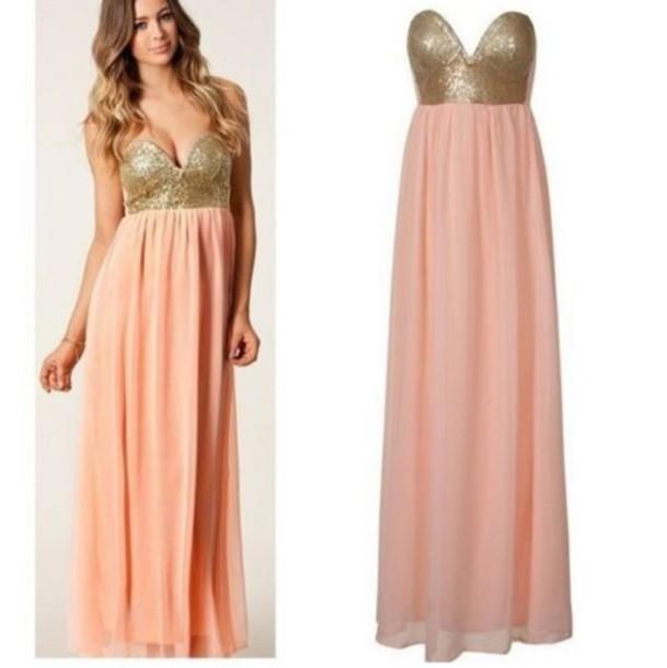 Pink Gold Dresses