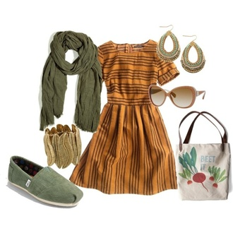 dress fall outfits polyvore toms