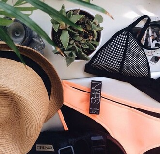swimwear triangl traiangl bikini nars cosmetics cool cactus plants succulent style tumbr amazing wow so cool triangle blue tringl bikini tribal pattern triangle bikini nars lipstick tumblr swimwear