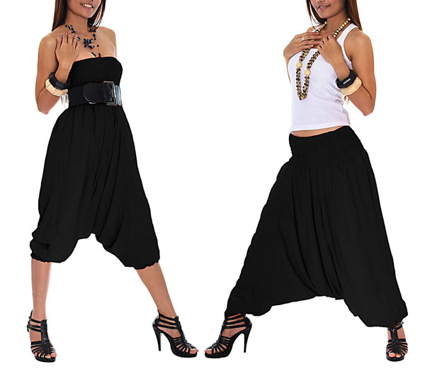 Women pants, harem pants,Yoga jumpsuit pants Black bottom pluderhose sarouel pantaloni pantalones broek pantalons baggy hippy yoga pants