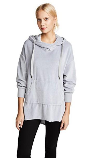 NSF hoodie pale grey sweater