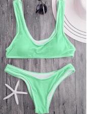 swimwear,green,girly,velvet,neon,neon bikini,bikini,bikini top,bikini bottoms,two-piece