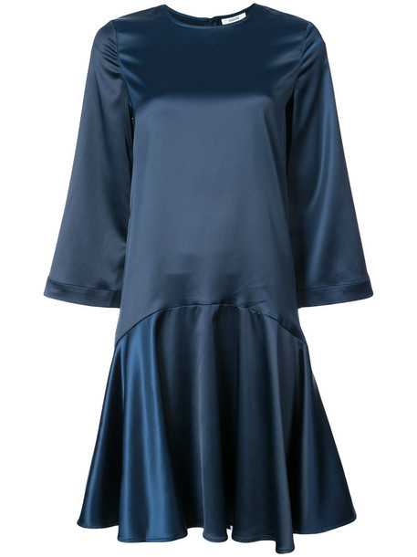Ganni dress women spandex blue