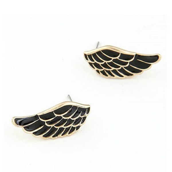 jewels earrings wing black and white