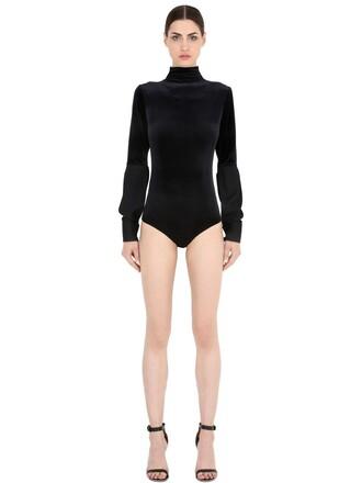 bodysuit velvet black underwear