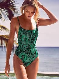 5306244d28 Victoria Secret Forever Sexy Low Back One Piece Swimsuit Green ...