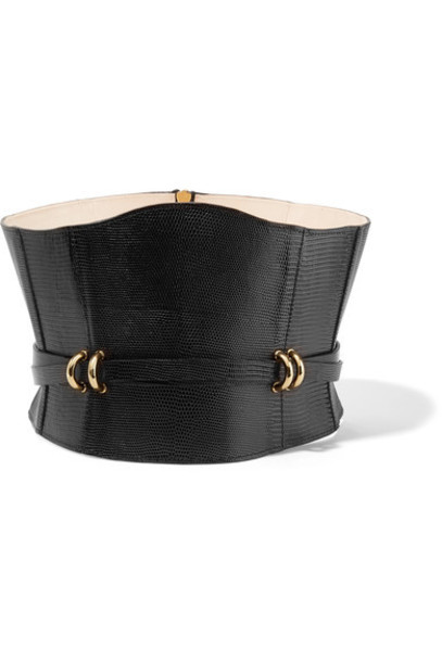 Balmain embellished belt waist belt leather black