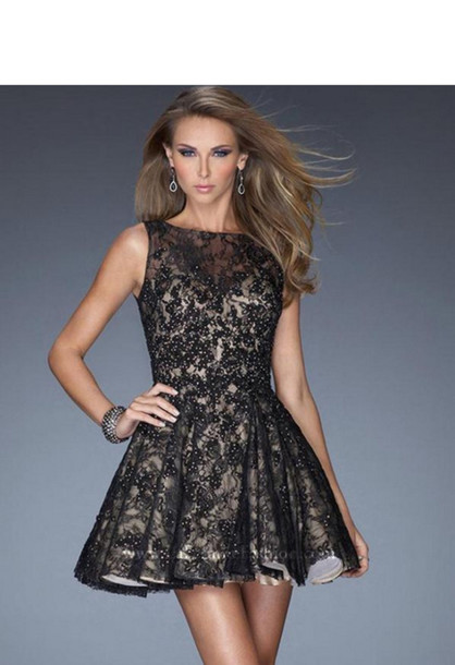 Dress: little black dress, prom dress, 2014 prom dresses ... Lace Prom Dresses 2014