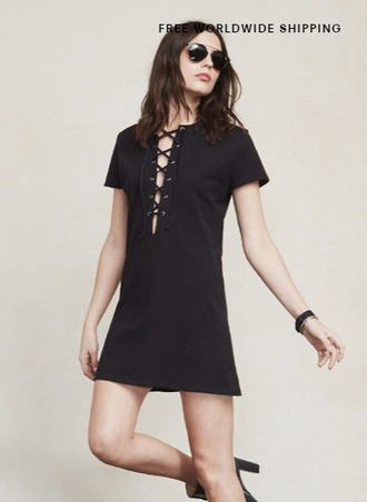 dress 70s style lace up