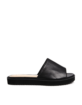 New Look | New Look Hank Black Mule Flat Sandals at ASOS