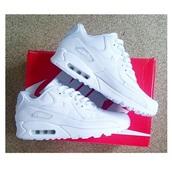 shoes,white,nike air,nike air max 90,nike shoes,nike air max 90 hyperfuse