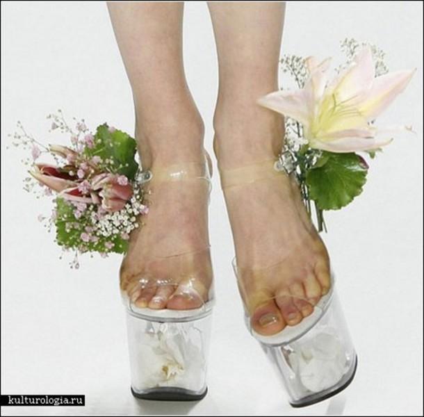 3f4a24554ba0 shoes transparent heels nature natural flowers transparent heels