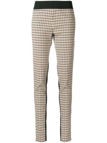 Stella McCartney women nude cotton silk wool pants