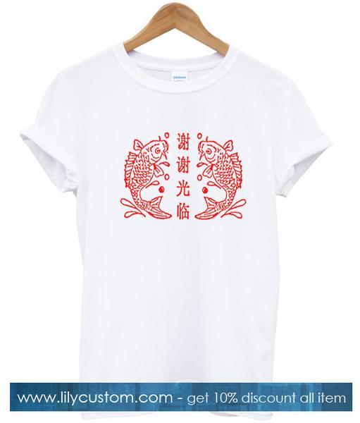 two koi fish tshirt