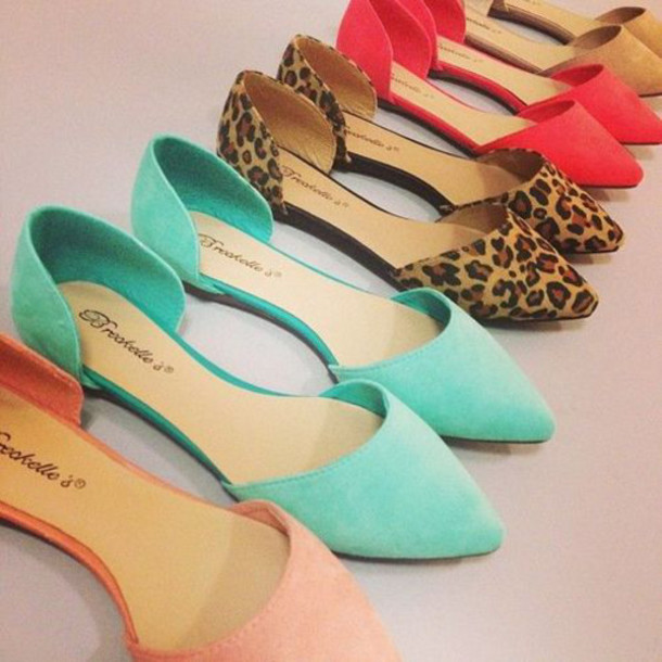 shoes ballerina flats pointy toe shoes pastel pastel flats ballet flats pointed toe spring summer fashion open side feminine cute casual elegant mint green shoes