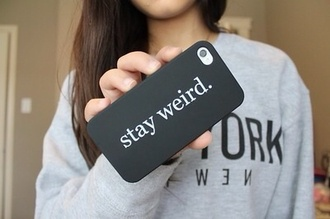 jewels phone cover stay weird stay weird phone case earphones iphone case black cool shirt silicone case