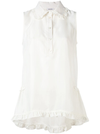 blouse sleeveless women white silk top