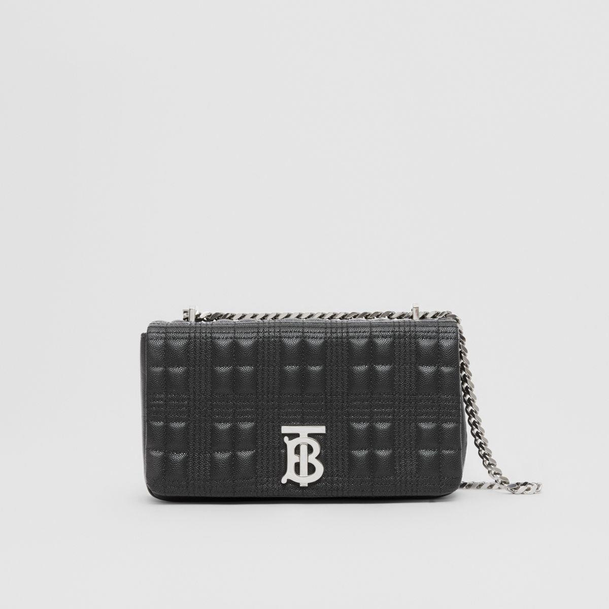 Small Quilted Grainy Leather Lola Bag