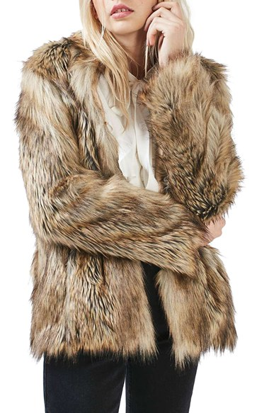 a69cd8347 Topshop Kate Faux Fur Coat | Nordstrom