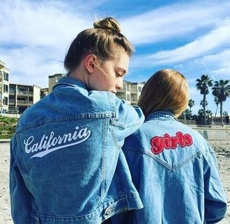 jacket jeans blue california denim
